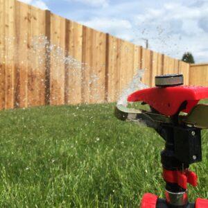 Sprinklers Watering the Lawn